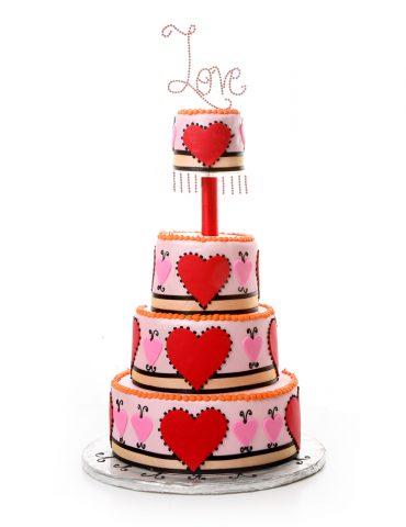 Szerelmes torták